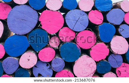 Color full timber background - stock photo