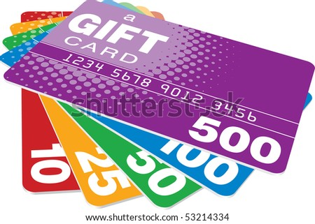 Color Gift Cards - stock photo