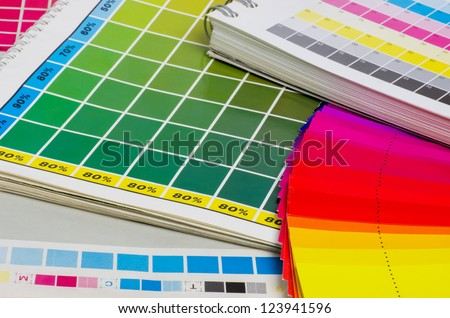 color guide and color fan - stock photo