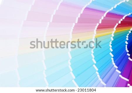 color guide closeup - stock photo