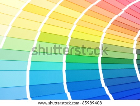 Color guide for selection - stock photo