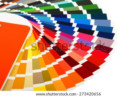 Color guide on a white background  - stock photo