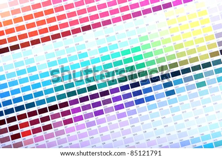 Color guide - swatch book - stock photo