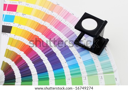 color guide with lens - stock photo