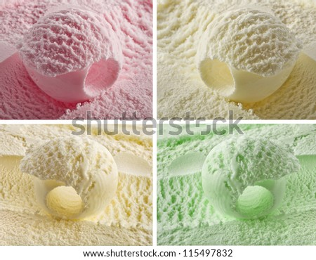 color ice cream - stock photo