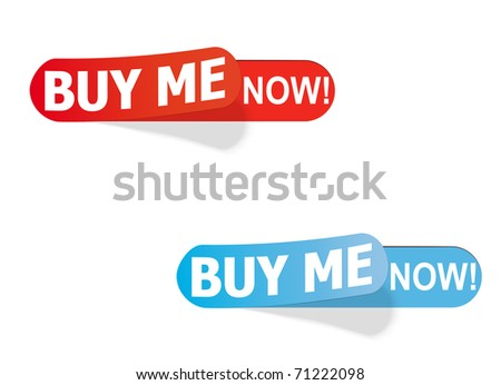 color labels with the inscription BUY ME NOW! Look for vector version at my portfolio. - stock photo