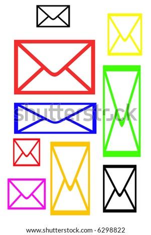 color letters ilustration - stock photo