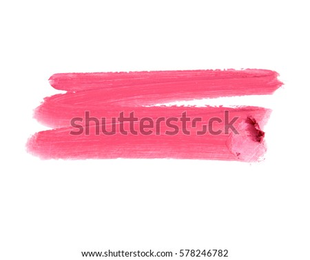 color lipstick stroke on white for background