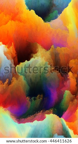 Color Lives series. Background design of fractal paint on the subject of design, art and imagination