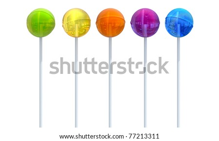 color lollypop - stock photo