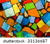 Color mosaic - stock photo