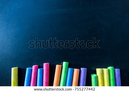 Color of chalk on chalkboard background. Education concept.