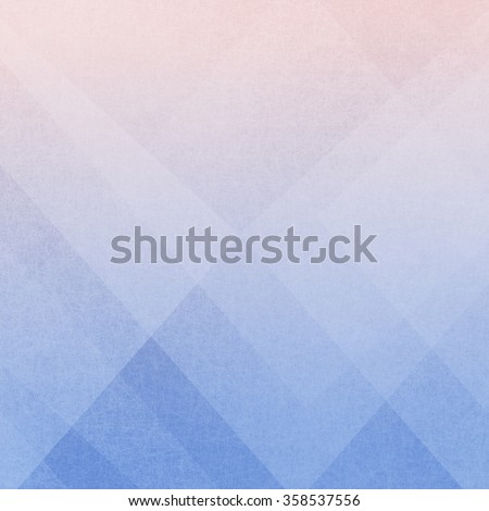 color of the year 2016 serenity blue and rose quartz in abstract geometric background - stock photo