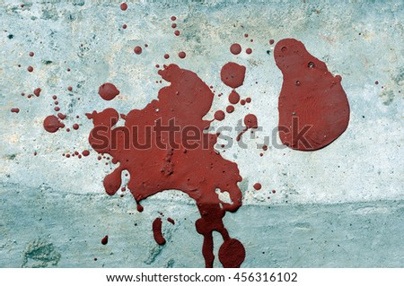 color on grunge floor - stock photo