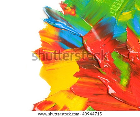 Color Paint border - stock photo