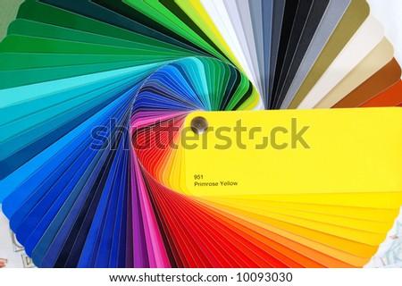 Color palette - stock photo