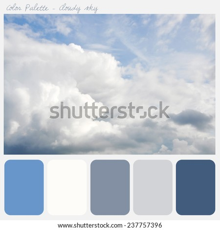 Color palette -cloudy sky - stock photo