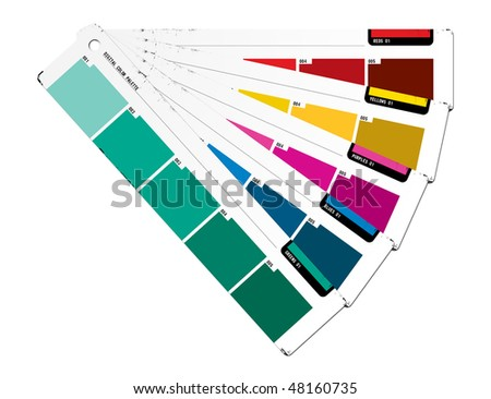 Color palette green - stock photo