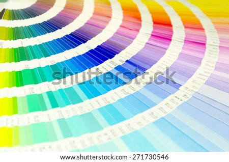 Color palette guide for printing industry isolated - stock photo