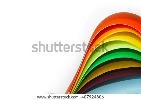 Color paper variety arc wave form spectrum - stock photo