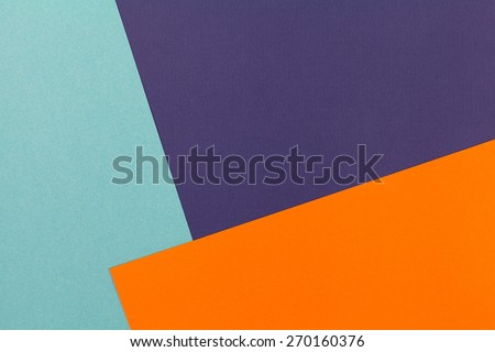 color papers geometry flat composition background with violet blue and orange tones - Color Papers