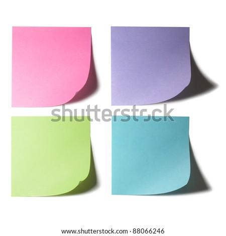 Color Papers Note Stock Photo - stock photo