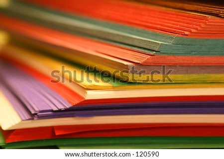 Color papers school supply