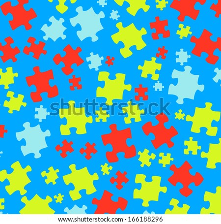 color pattern and puzzle - stock photo