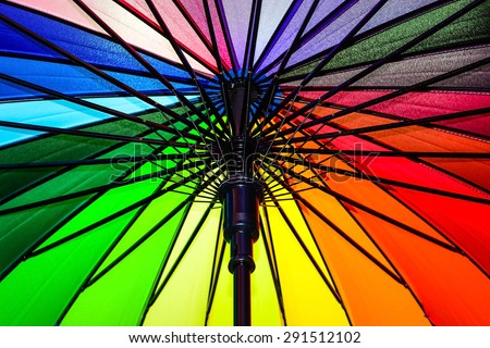 Color pattern of an umbrella. - stock photo