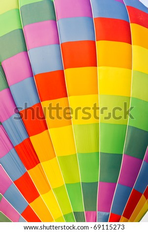 color pattern of hot air balloon - stock photo