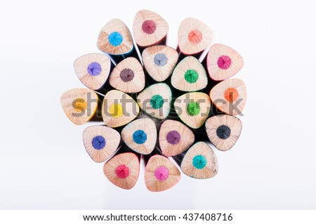 Color Pencil / Color pencils isolated on white background. - stock photo
