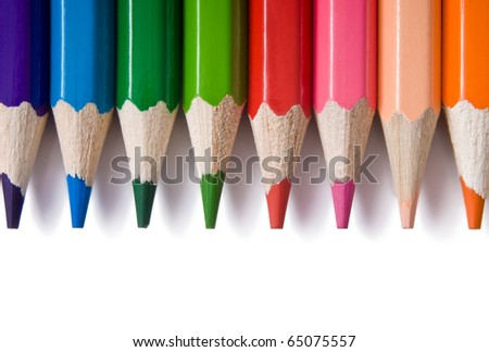 color pencil isolated on white - stock photo