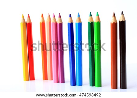 color pencils as background