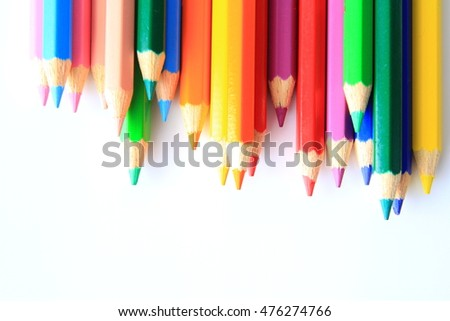 color pencils as wallpaper