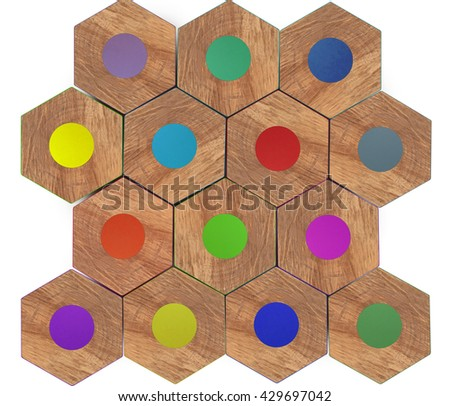 Color Pencils Close-up, Top View, Macro - stock photo