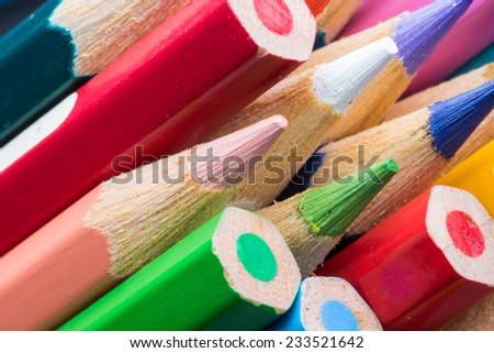 Color Pencils on colorful background