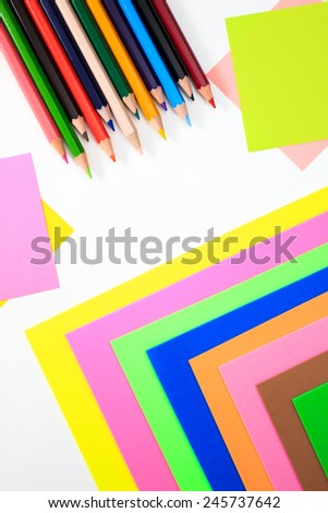 Color pens in various colors - stock photo