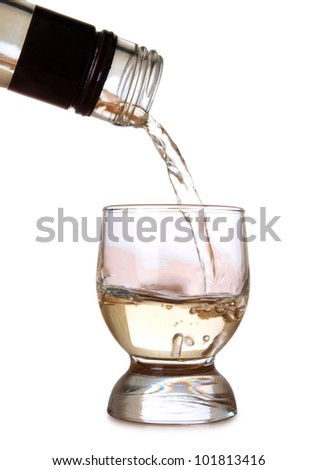 Color photo of a glass of tequila - stock photo