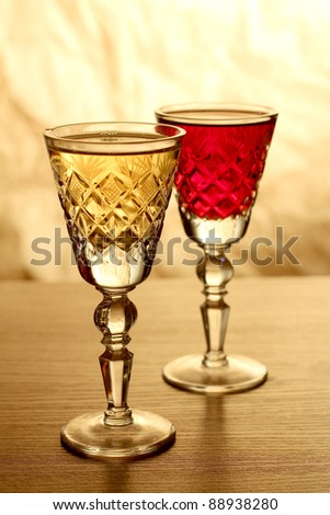 Color photo of a glass of wine