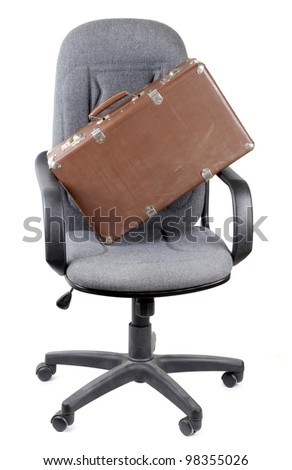Color photo of a large office chair - stock photo