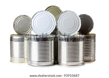 Color photo of a metal tin - stock photo