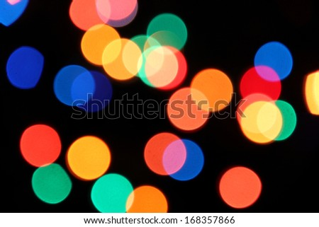 Color photo of blurred electric lights