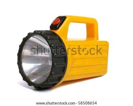 Color photograph of electric flashlight - stock photo