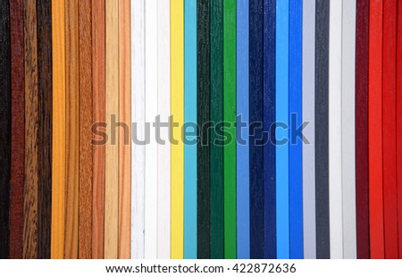 Color pieces of wood