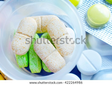 color pills - stock photo