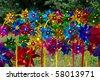 color pinwheel - stock photo