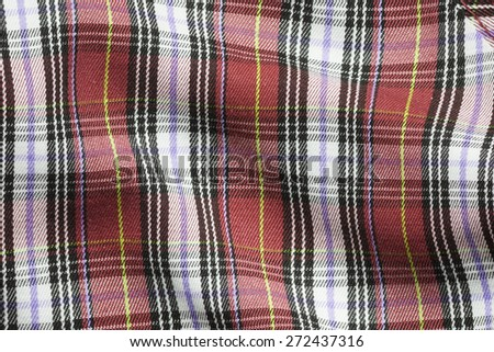 Color plaid , Flannel Fabric Texture or background - stock photo