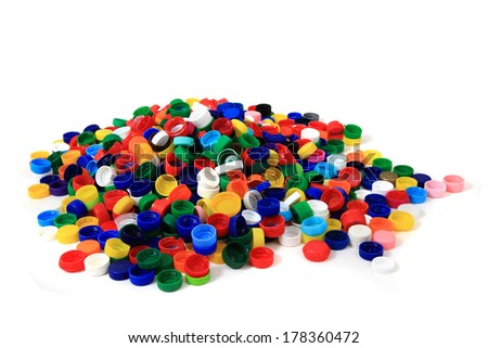 color plastic caps as nice background