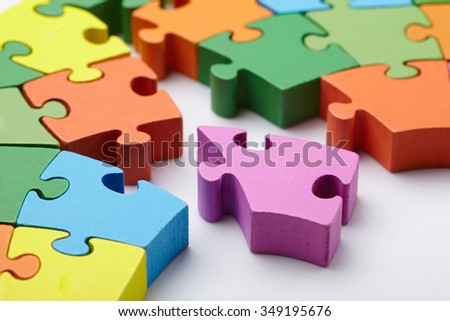 color puzzle - stock photo