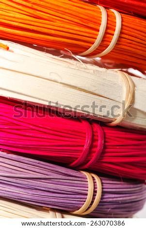 Color rattan - stock photo